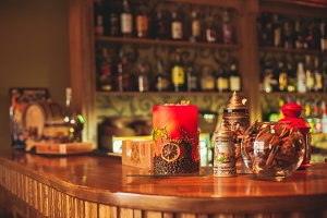 Handmade winter bar