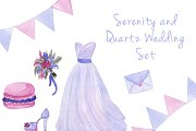 Serenity wedding watercolor set