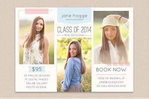 Senior Mini Session Flyer Template