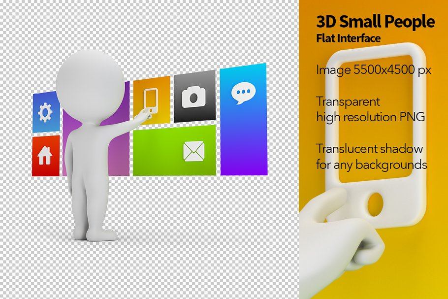 3D Small People - Flat Interface in Illustrations - product preview 8