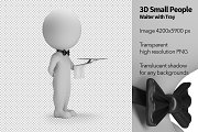 3D Small People - Waiter with Tray