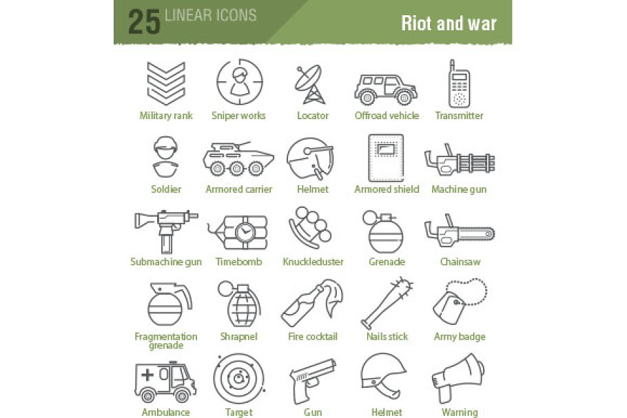 100 military and army icons in Military Icons - product preview 8