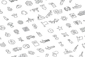 100 military and army icons