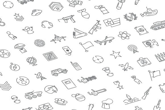 100 military and army icons in Military Icons - product preview 1