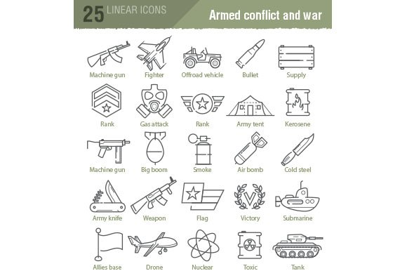 100 military and army icons in Military Icons - product preview 2