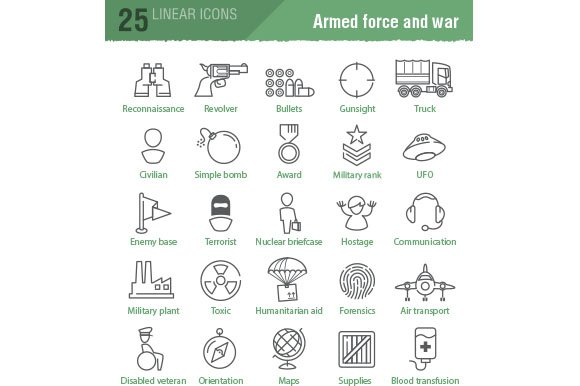 100 military and army icons in Military Icons - product preview 3
