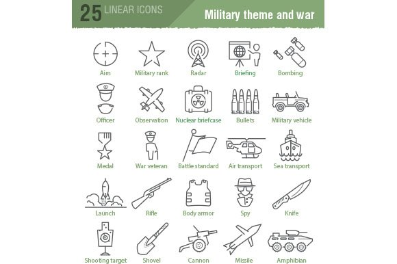 100 military and army icons in Military Icons - product preview 4