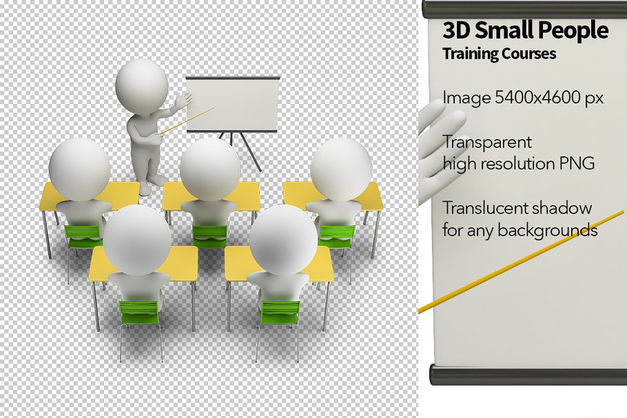 3D Small People - Training Courses in Illustrations - product preview 8