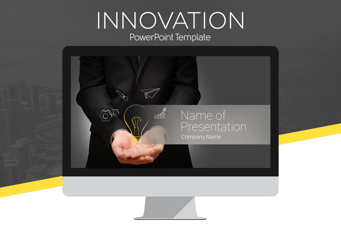 Innovation powerpoint template presentation templates creative innovation powerpoint template presentation templates creative market toneelgroepblik Choice Image