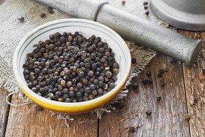 Bowl of black pepper