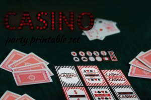 Printable casino party set