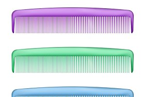 Colorful Combs on white