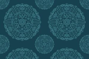 Ornate Mandala seamless pattern