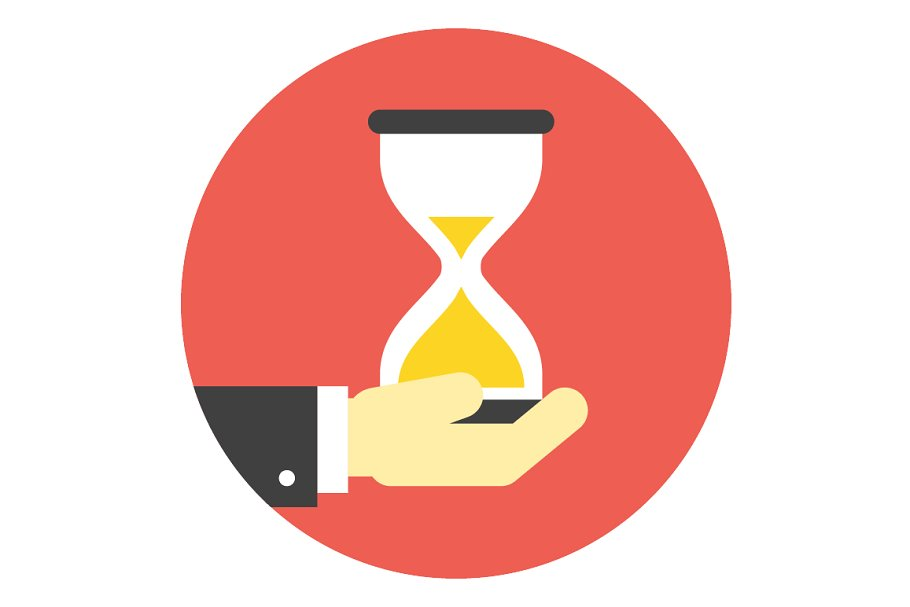 Businessman holding hourglass in Illustrations - product preview 8