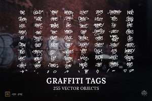 Graffiti Tags - 255 vector objects