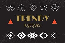 Set of trendy logotypes