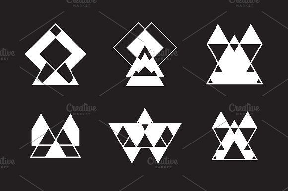 Set of trendy logotypes in Illustrations - product preview 8