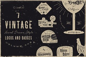 Vintage Handdrawn Logos Vol 1 (Sale)