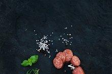 Smoked salami sausage