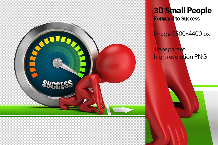 3D Small People - Forward to Success in Illustrations - product preview 8