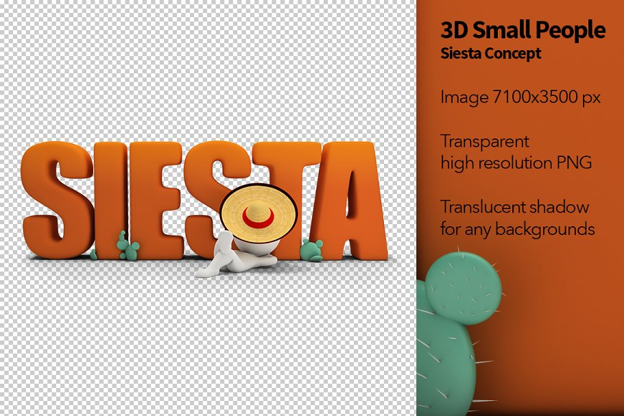 3D Small People - Siesta Concept in Illustrations - product preview 8