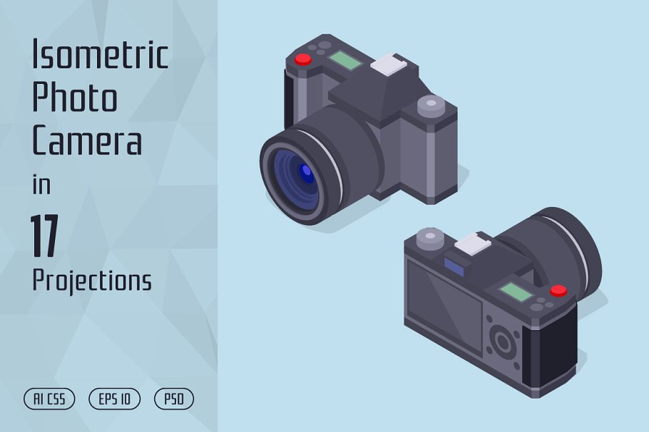 Isometric Photo Camera in Objects - product preview 8