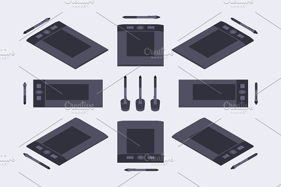 Isometric Graphics Tablet in Objects - product preview 1