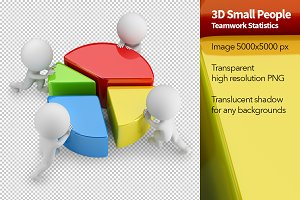 3D Small People - Teamwork