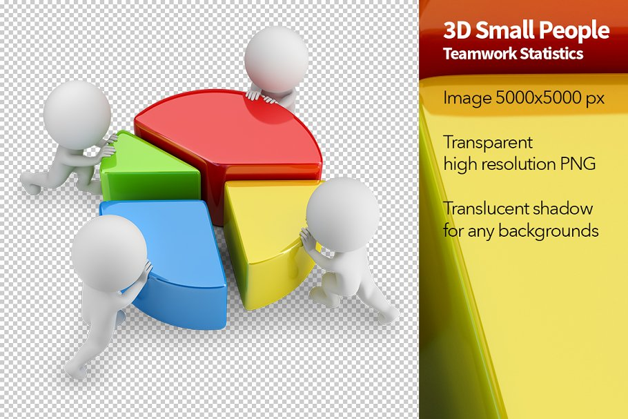 3D Small People - Teamwork in Illustrations - product preview 8
