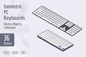 Isometric PC Keyboards
