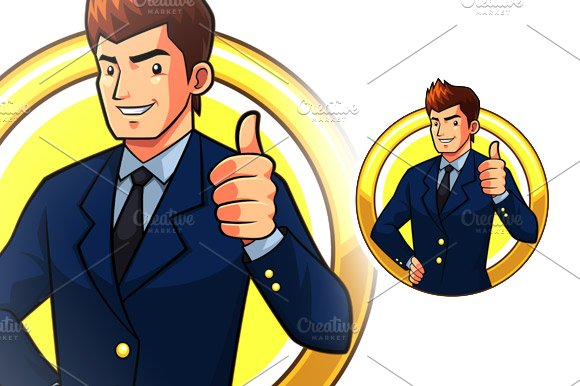 Great Businessman in Illustrations