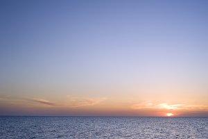 Beautiful sunset at Black sea