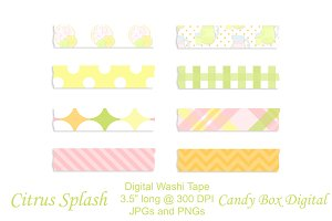 Lemonade Digital Washi Tape