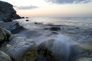 Black sea rocks