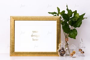 Styled photo-based frame mockup