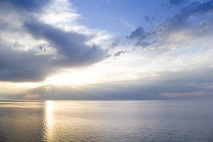 Sunbeams at the sea