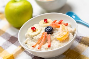 Healthy funny oatmeal for children