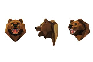 Bear head vector illustration