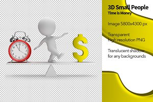 3D Small People - Time is Money