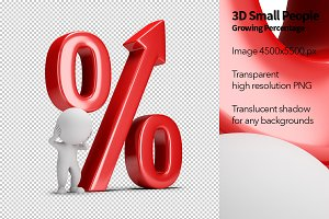 3D Small People - Growing Percentage