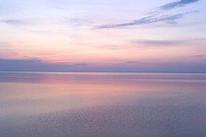 Sunrise above the sea