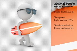 3D Small People - Surfboard