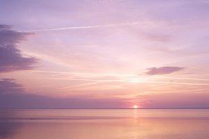Beautiful sunrise at the sea