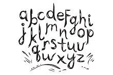 Hand Drawn Alphabet. Letter.
