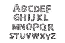 Hand drawn Letters. Alphabet.