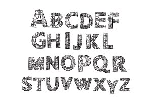 Hand drawn Letters. Alphabet.