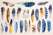Watercolor BOHO feather DIY_4
