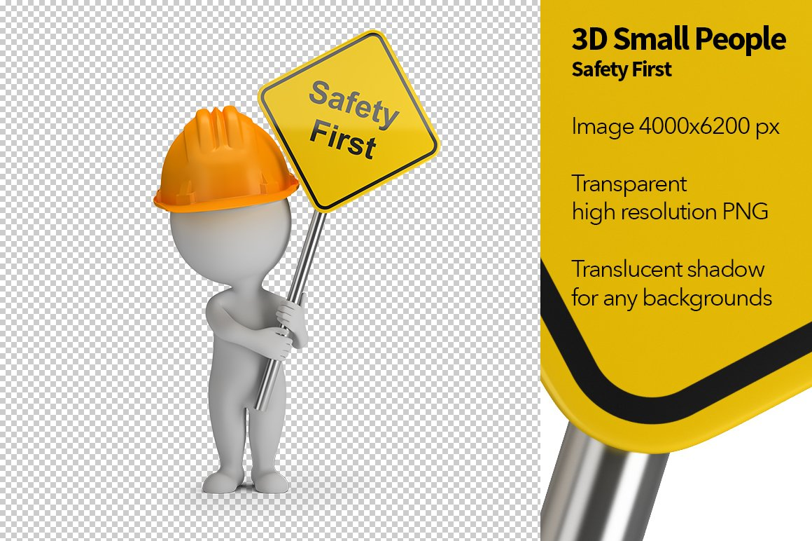 3d small people safety first illustrations creative market