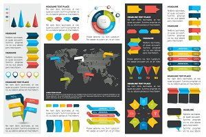 Mega set of infographics element