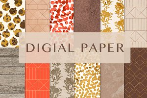 "digital paper ""pomegranates"""